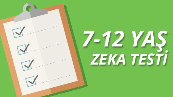 7-12 yaş zeka testi yap