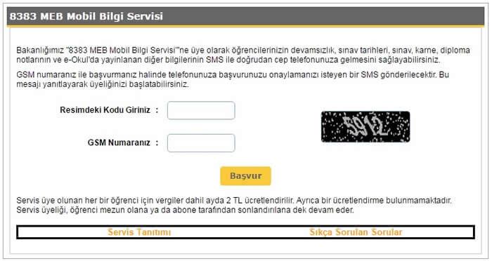 Meb mobil bilgi servisi