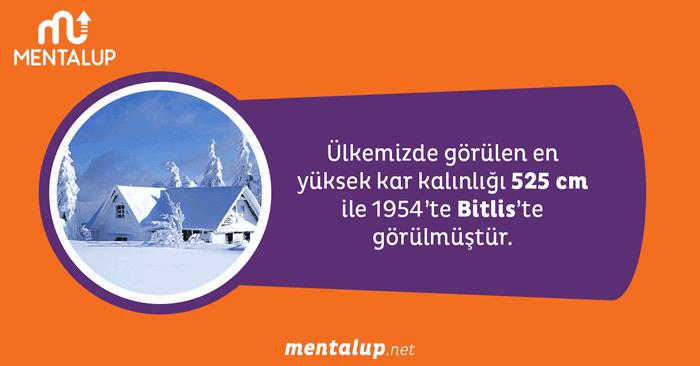 Türkiye'de en yüksek kar kalınlığı