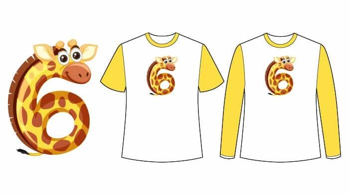 t-shirt ile okul öncesi matematik etkinliği