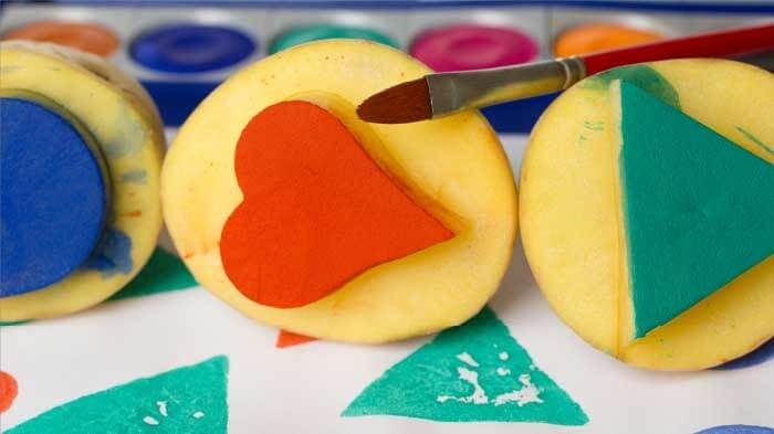patates baskı 4 yaş çocuk oyunu