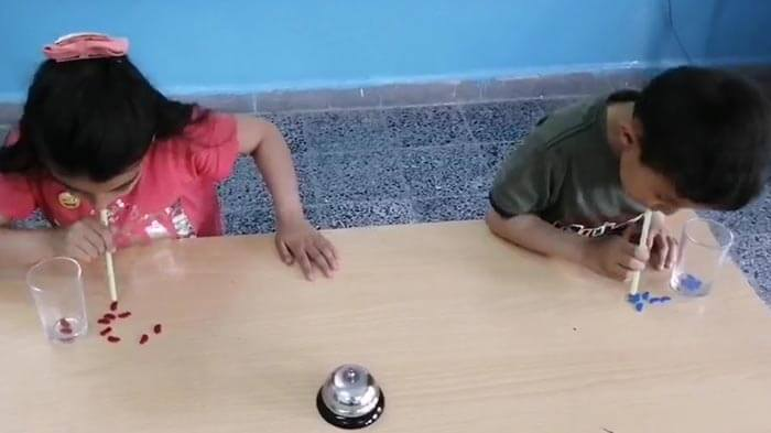 pipetli çocuk etkinliği