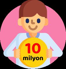 10 milyondan fazla mentalup üyesi
